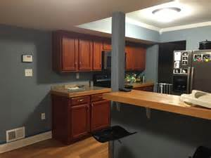 Kitchen wall paint ideas with cherry cabinets