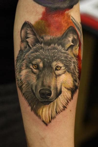 realistic wolf tattoo arm realistic wolf by nemesis