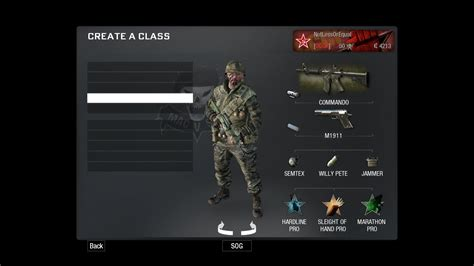 Ps3 Call Of Duty Black Ops Reg 4 preset gear loadouts general support bane elite forum