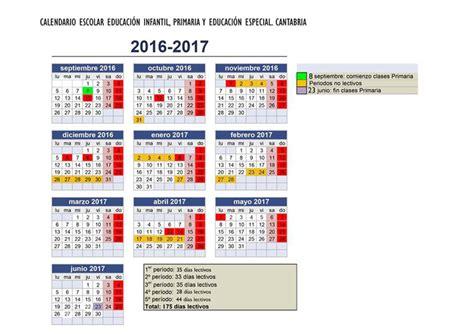 sep calendario escolar 2016 2017 cantabria los escolares c 225 ntabros disfrutar 225 n de un periodo de