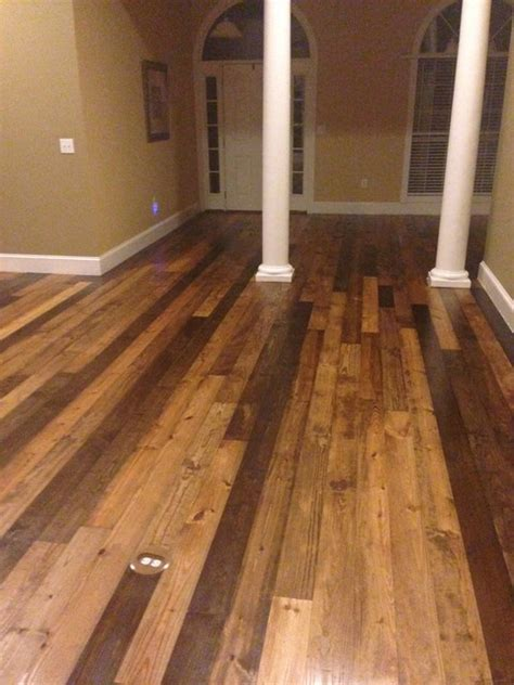 distressed southern yellow pine  flooring rustic flooring