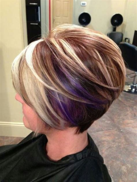 long bob hairstyles with low lights hairstyles inverted bob highlights lowlights pinterest