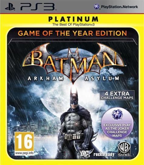 Ps4 Batman Arkham Of The Year Edition Goty batman arkham asylum of the year edition platinum ps3 zavvi