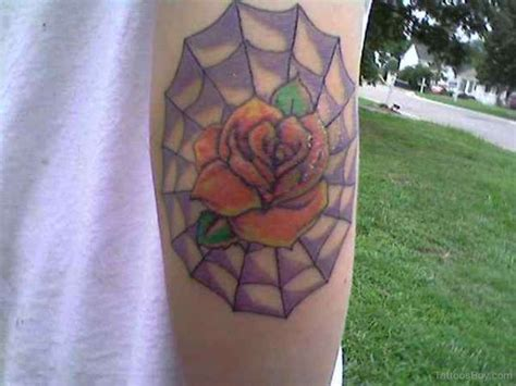 rose with spider web tattoo spiderweb tattoos designs pictures