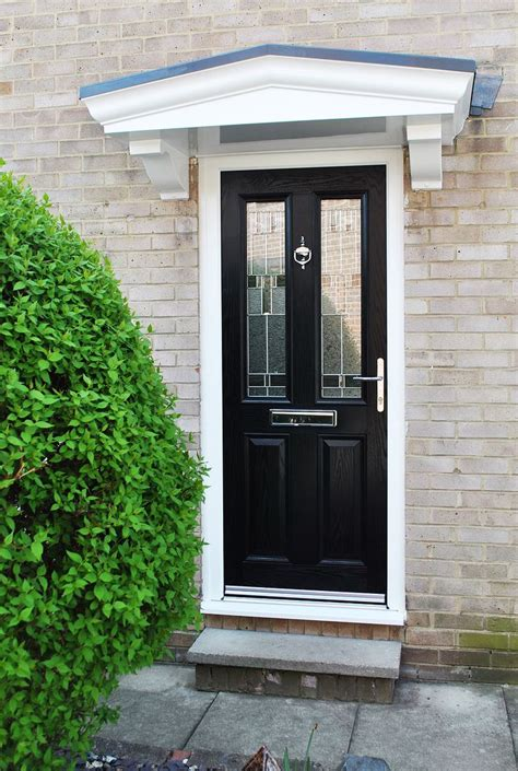 Contemporary Front Door Canopies A Recent Contemporary Installation Beautiful Altmore Composite Door In Black With