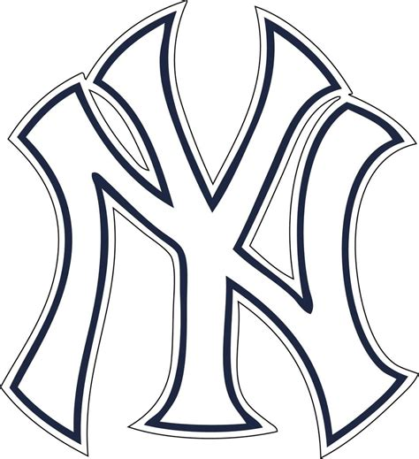 Kaos White Logo 1 new york yankees ny logo window wall decal vinyl car