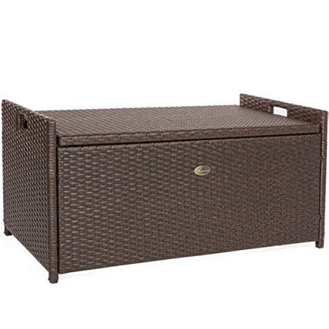outdoor patio cushion storage bench barton outdoor storage bench rattan style deck box w
