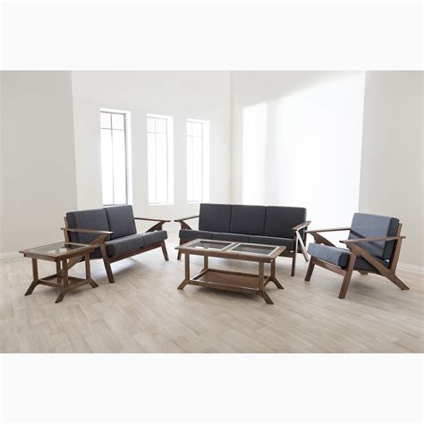 Wholesale Living Room Furniture Sets Wholesale Interiors Baxton Studio 5 Living Room Set Wayfair