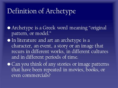 pattern original meaning archetypes the building blocks of stories ppt download