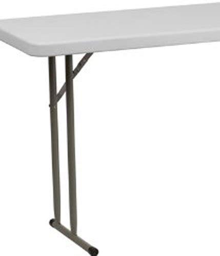 flash furniture 18 x 72 plastic folding table white flash furniture 18 w x 72 l granite white plastic