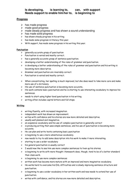 writing effective report card comments grades 1 6 report card comments for kindergarten writing effective