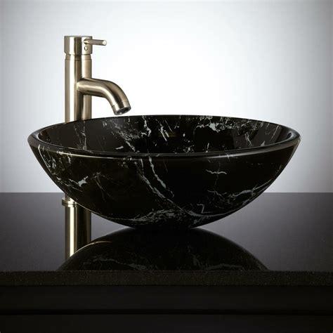 Vessel Glass Sink by Signature Hardware Marbled Glass Bathroom Vessel Sink Ebay