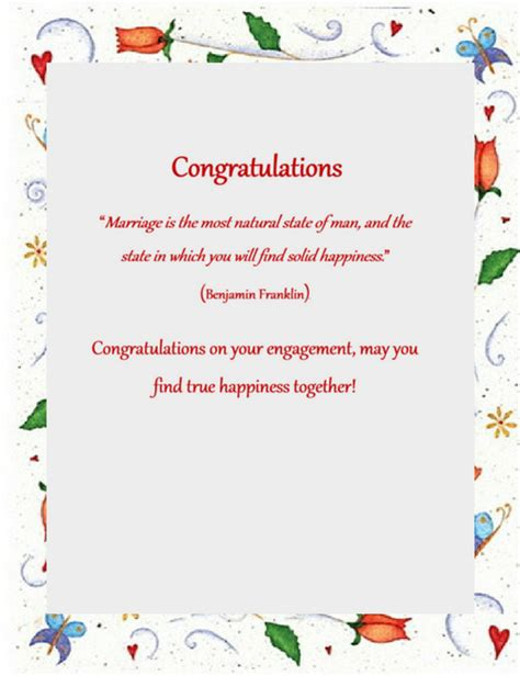 congratulations template engagement congratulations wording 3 free geographics