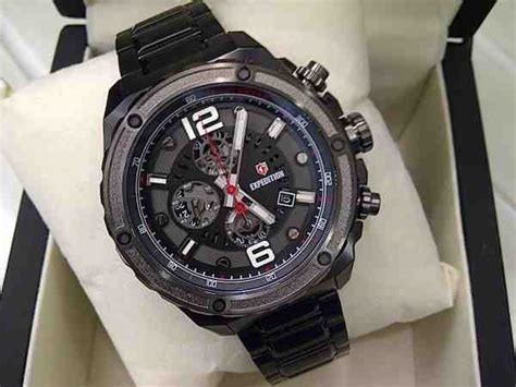 Jam Tangan Expedition 6732 Black jual jam tangan pria expedition 6732 baru jam tangan expedition terbaru murah lengkap