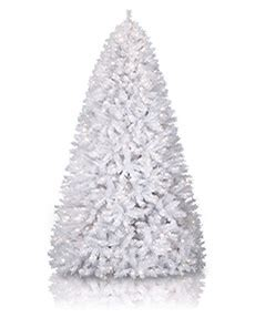 white christmas trees treetopia
