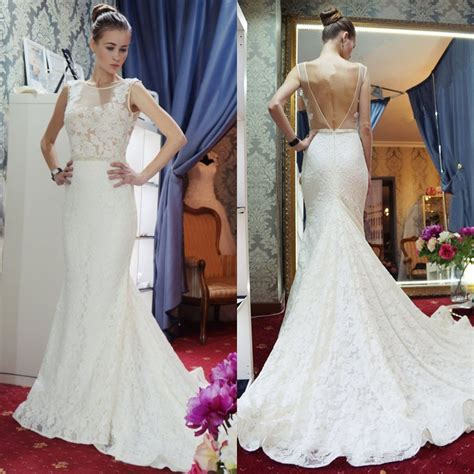 Hochzeitskleid Bestellen by G 252 Nstige Hochzeitskleider Spitze Meerjungfrau Brautkleid