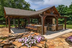 outdoor kitchen pavilion designs poolside pavilion with tv outdoor fireplace kitchen hgtv