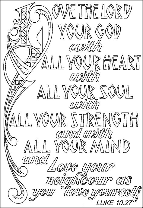 The Greatest Commandment Coloring Page pin the greatest commandment on
