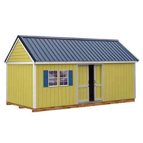 metal shed kits best barns brookhaven 10 ft x 20 ft storage shed kit with floor including 4 x 4 runners