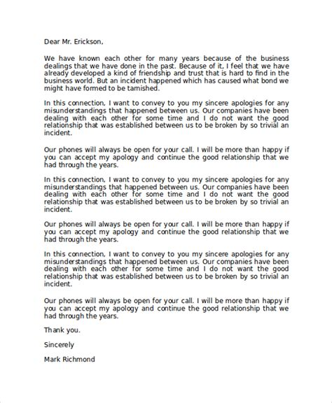 Professional Apology Letter To Professional Sle Formal Apology Letter To Costumer Vlcpeque
