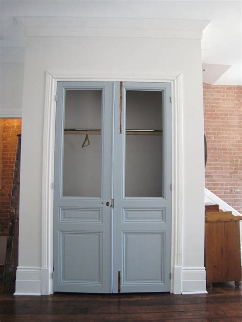 Closet Doors Closet Door With Blue Color And Clear Closet With Glass Doors