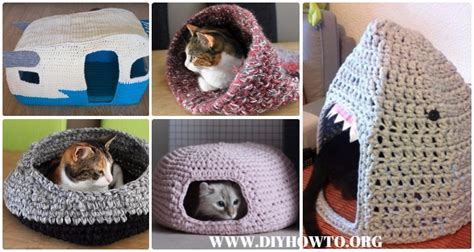pattern for cat house crochet cat house nest bed patterns instructions