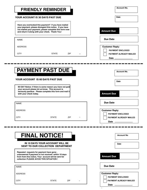 Payment Reminder Letter Before Due Date Template 10 best images of payment due notice payment past due