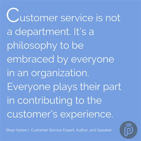 Respect The Customer Part 23820 by Quot Customer Service Is Not A Department It S A Philosophy