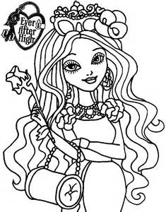 ever after high briar beauty coloring pages