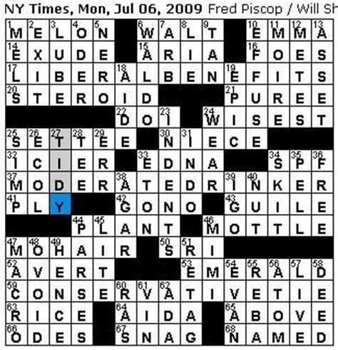 pattern crossword clue rex parker does the nyt crossword puzzle monday jul 6