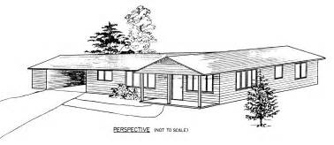 Free Ranch House Plans Ranch Style House Clipart Images