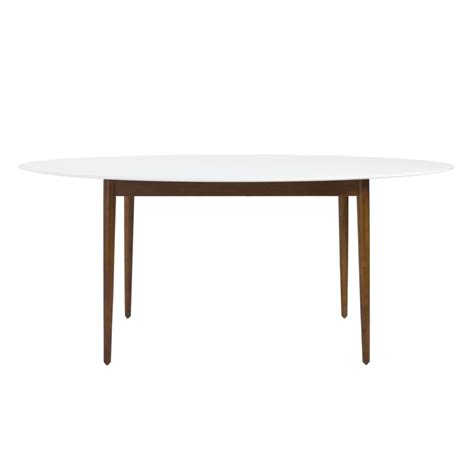oval dining table with bench era oval dining table modern furniture brickell collection