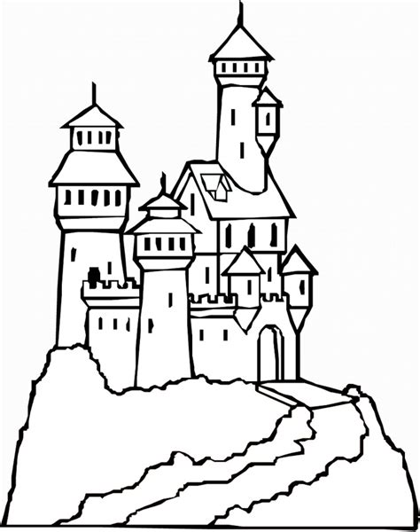 And The Castle Coloring Pages free printable castle coloring pages for