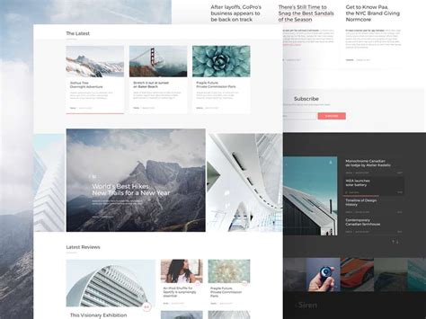 The Siren Website Template For Sketch Designermill Sketch Website Template