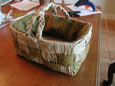 Craft Paper Basket - brown paper bag basket scrapbook craft ideas