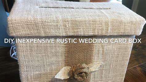 Diy Wedding Card Box Rustic