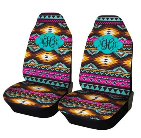 tribal pattern car seat covers aztec car seat covers set of two front seat covers tribal