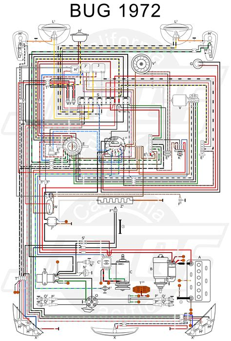 vw bug wire diagram bug free printable wiring schematics