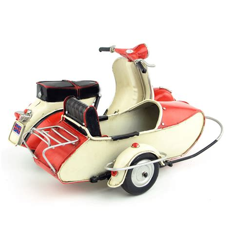 Diecast Vespa 3 mini vespa tricycle model motorcycle vintage metal