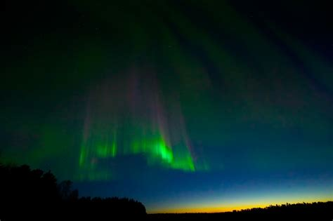 northern lights in april panoramio photo of northern lights at the sunrise in