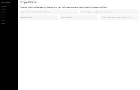 Bootstrap Sidebar Template start bootstrap sidebar nav template for bootstrap 3