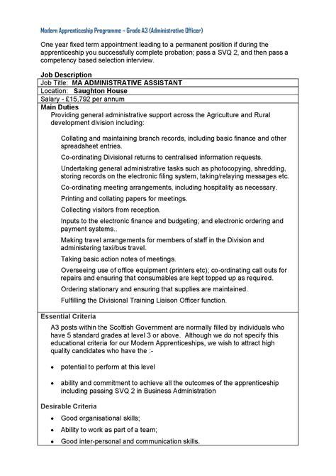 Resume Administrative Assistant Duties 100 administrative assistant description for