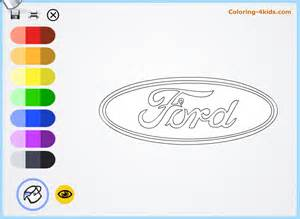 ford logo coloring pages cars logos coloring pages