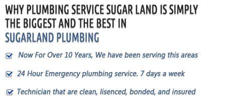 plumbing service sugar land