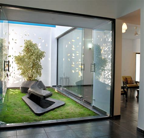 home design interior courtyard garden with modern glazed home interior designs home