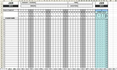 monthly employee attendance record template 5 employee meeting attendance template excel project