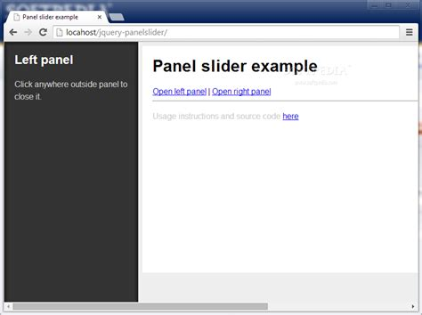 jquery ui layout resize panel jquery panel slider download