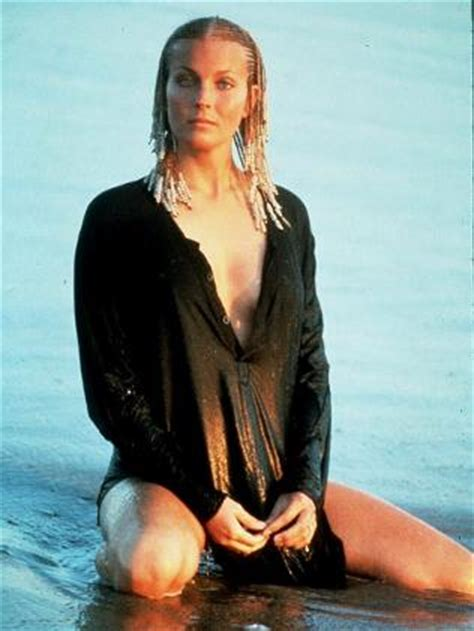 former playboy cover girl and actress bo derek in mid air