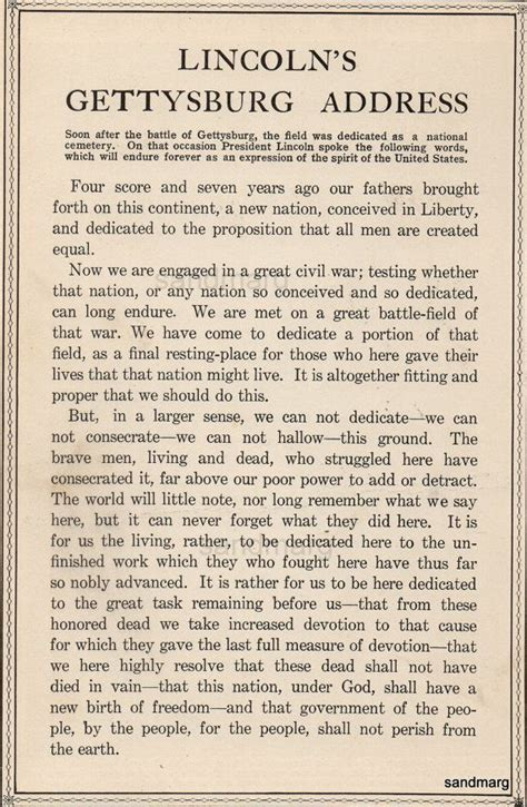 lincoln s gettysburg address 1912 72 best images about u s a on vintage new