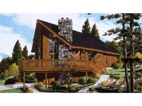 chalet house plan with 1468 square feet and 3 bedrooms